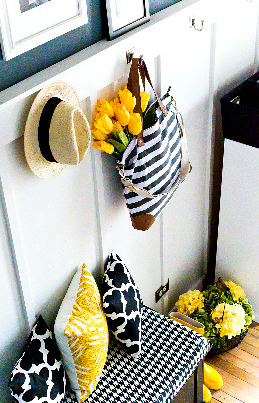 Spring Decorating in Yellow and Gray