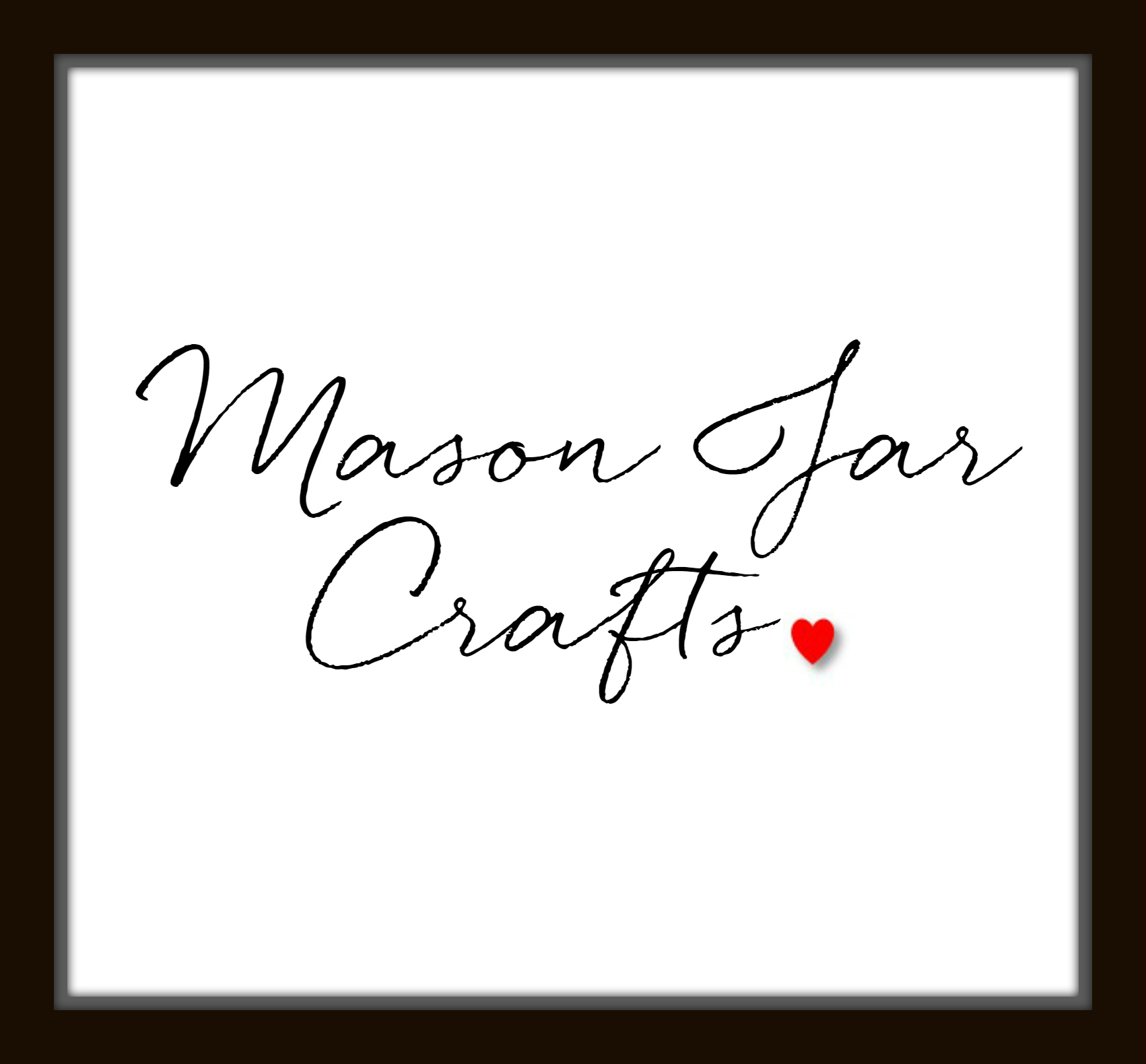 Mason Jar Logo for Pinterest - Black and gray