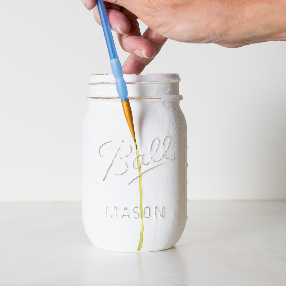 Painted Mason Jar Tutorial