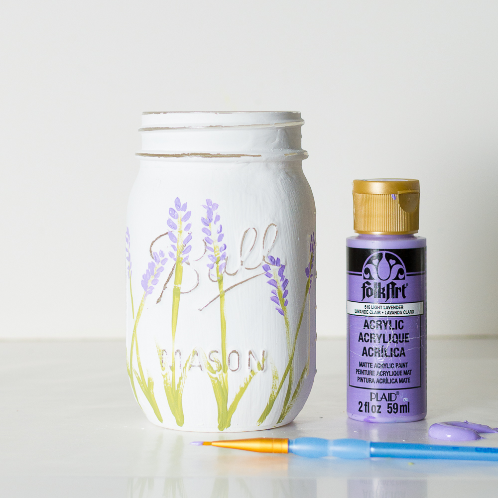 Painted Lavender Flower DIY
