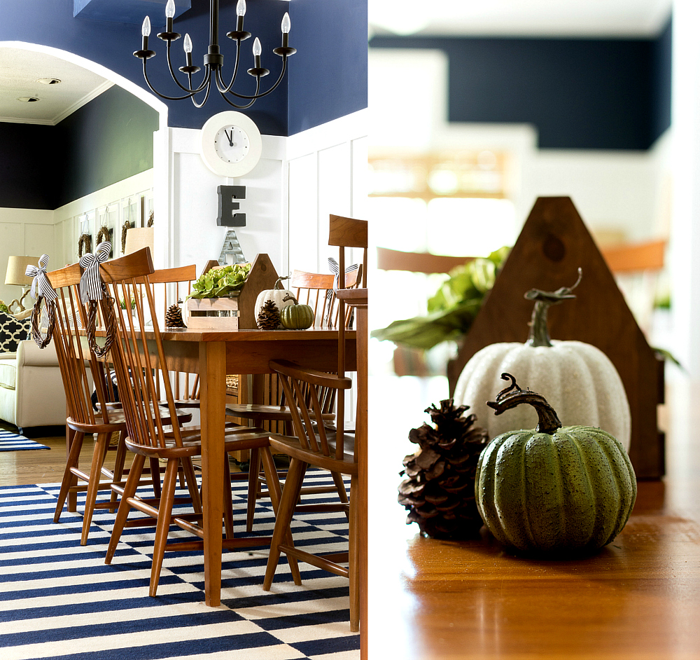 Simple Dining Table Decorating Centerpiece Ideas Fall Thanksgiving Table