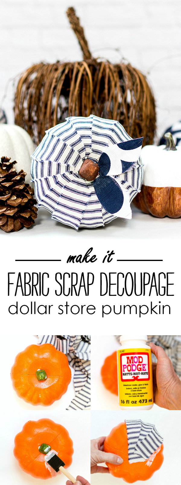 Dollar Store Pumpkin Craft Idea
