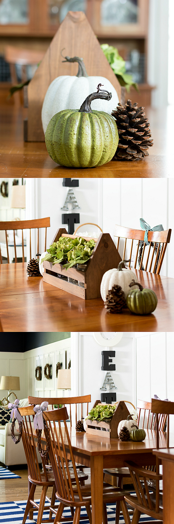 Fall Centerpiece Ideas Neutral with Pumpkins