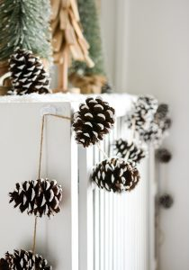 Holiday Mantel Fantel with Trees