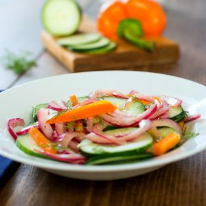 Weight Watchers Cucumber Salad with Pickled Onion