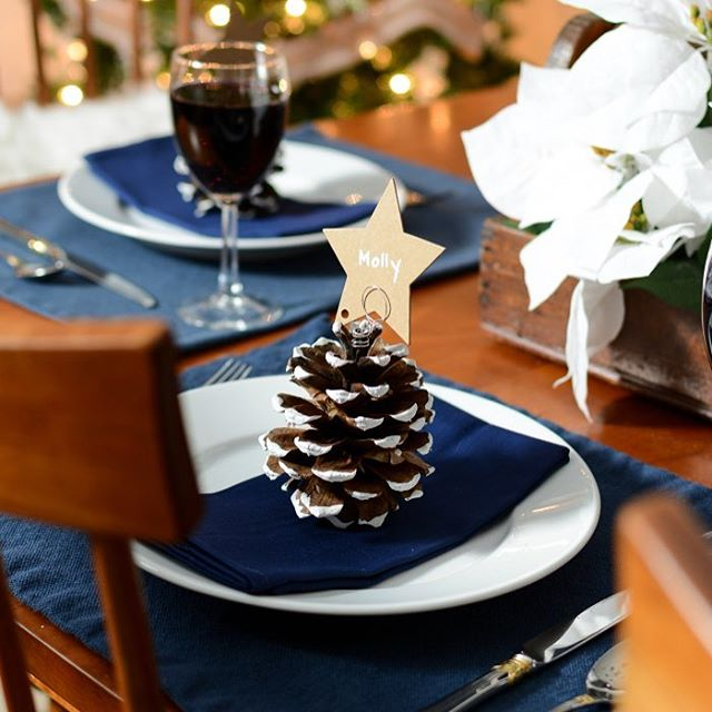 An easy pine cone place card holder diy to takehellip