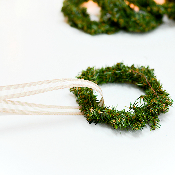 How to Hang Wreaths on Kitchen Cabinet Doors