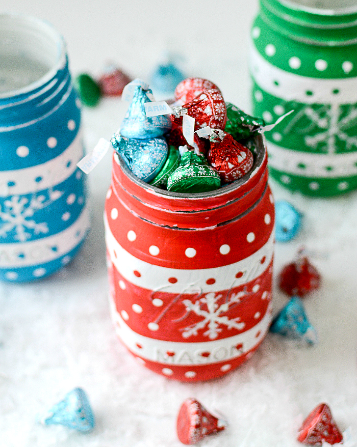 Christmas Sweater Painted Mason Jar