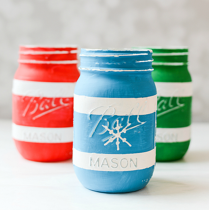 How To Paint Snowflake on Mason Jar