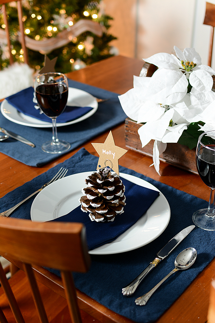 Pine Cone Christmas Tree Place Card Holders