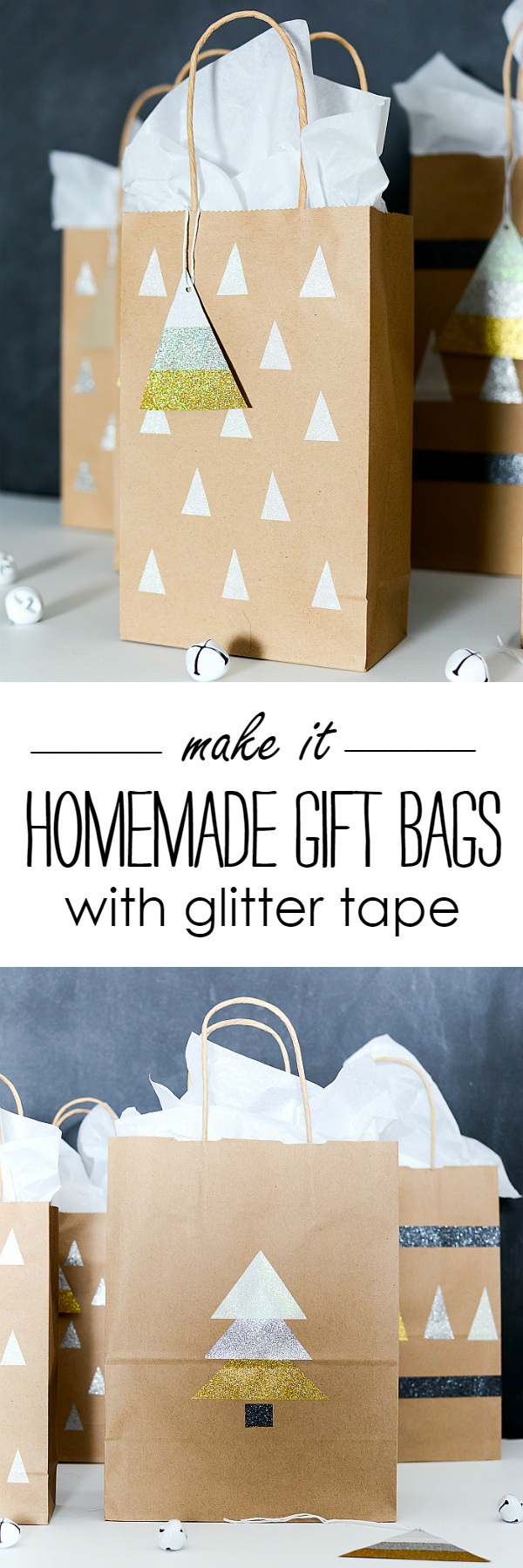 Homemade Gift Bags and Tags with DUCK Glitter Tape @It All Started With Paint