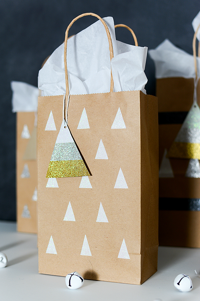 Holiday Gift Bag with Duck Tape