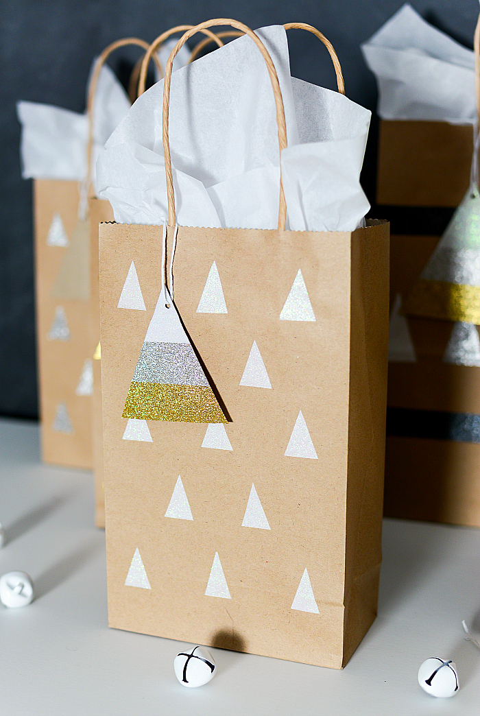 How to Make Holiday Gift Bags and Tags with Duck Tape