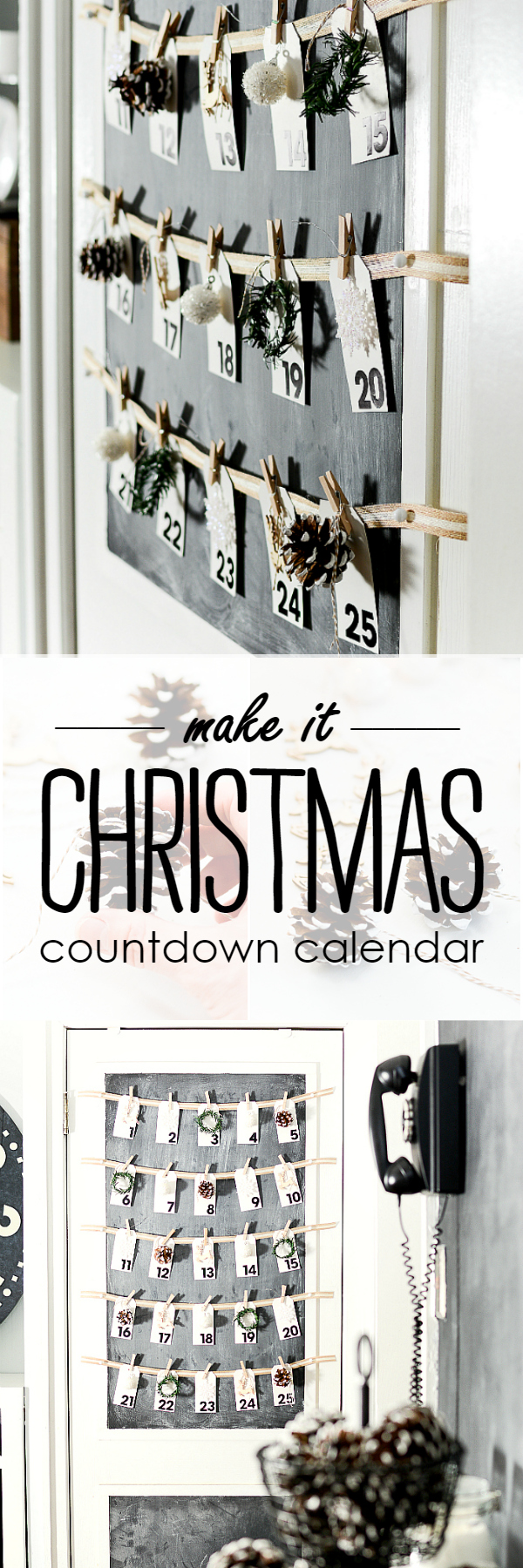 Merry Christmas Countdown Calendar - Advent Calendar DIY @It All Started With Paint www.itallstartedwithpaint.com