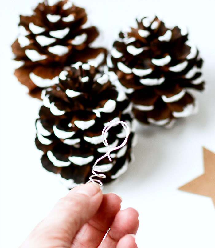 DIY Pine Cone Christmas Tree Place Card Holders