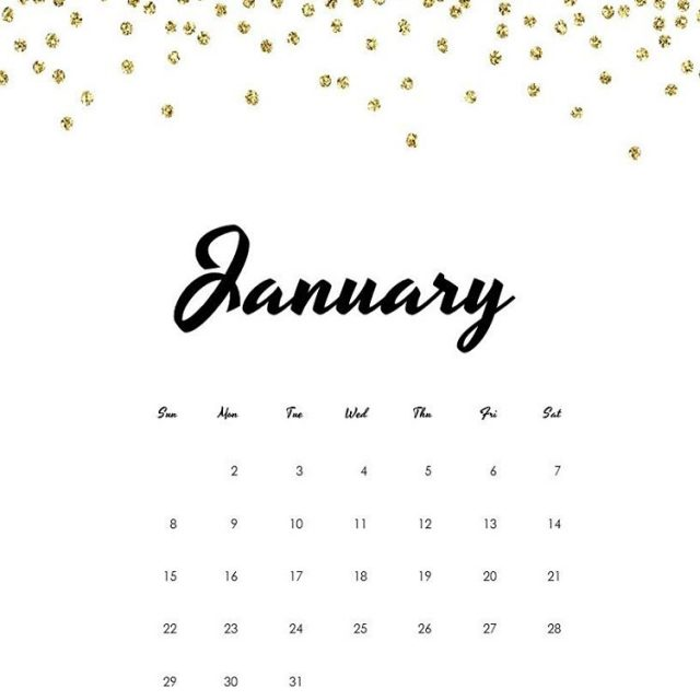 freeprintable calendarpage January 2017
