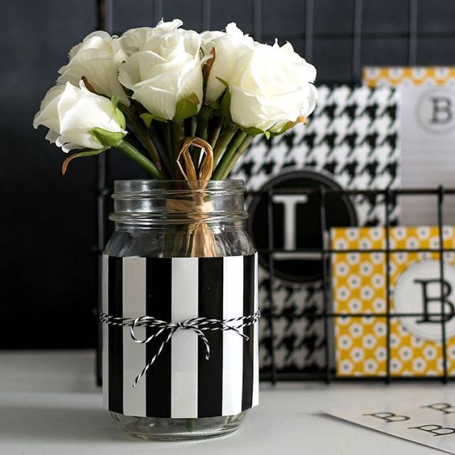 Get organized this year with dressed up masonjars
