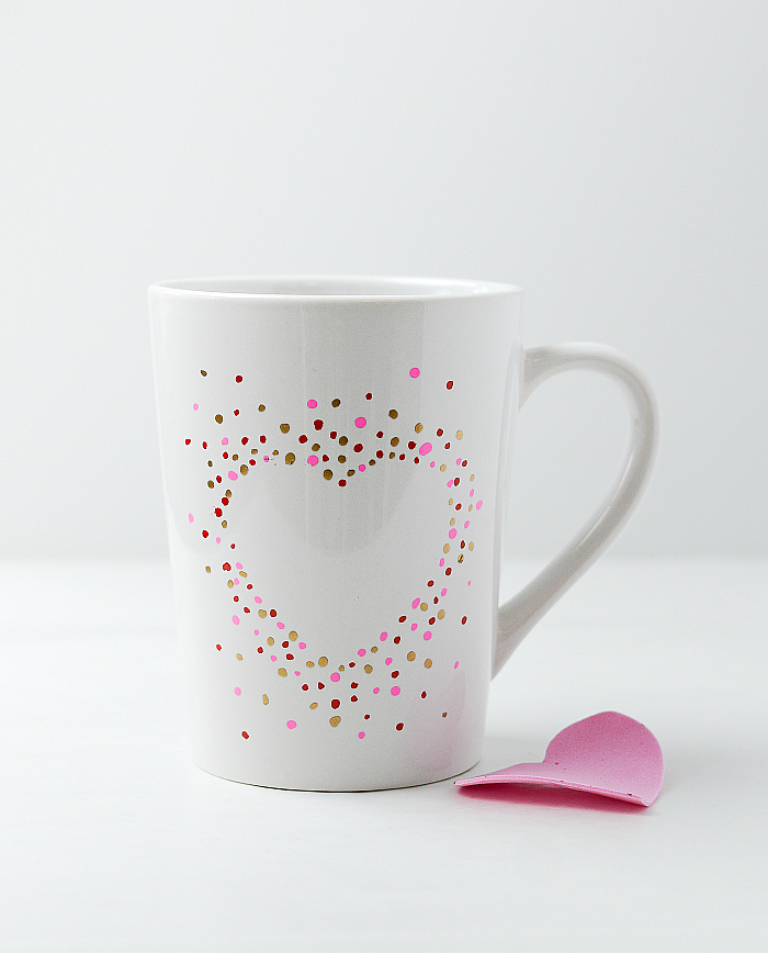 Valentine Day Craft Ideas - Paint Pen Heart Mug