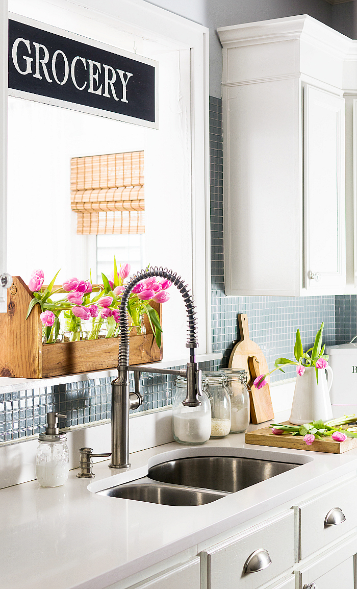 Tips For Kitchen Color Ideas: Spring Decorating Ideas With Pink