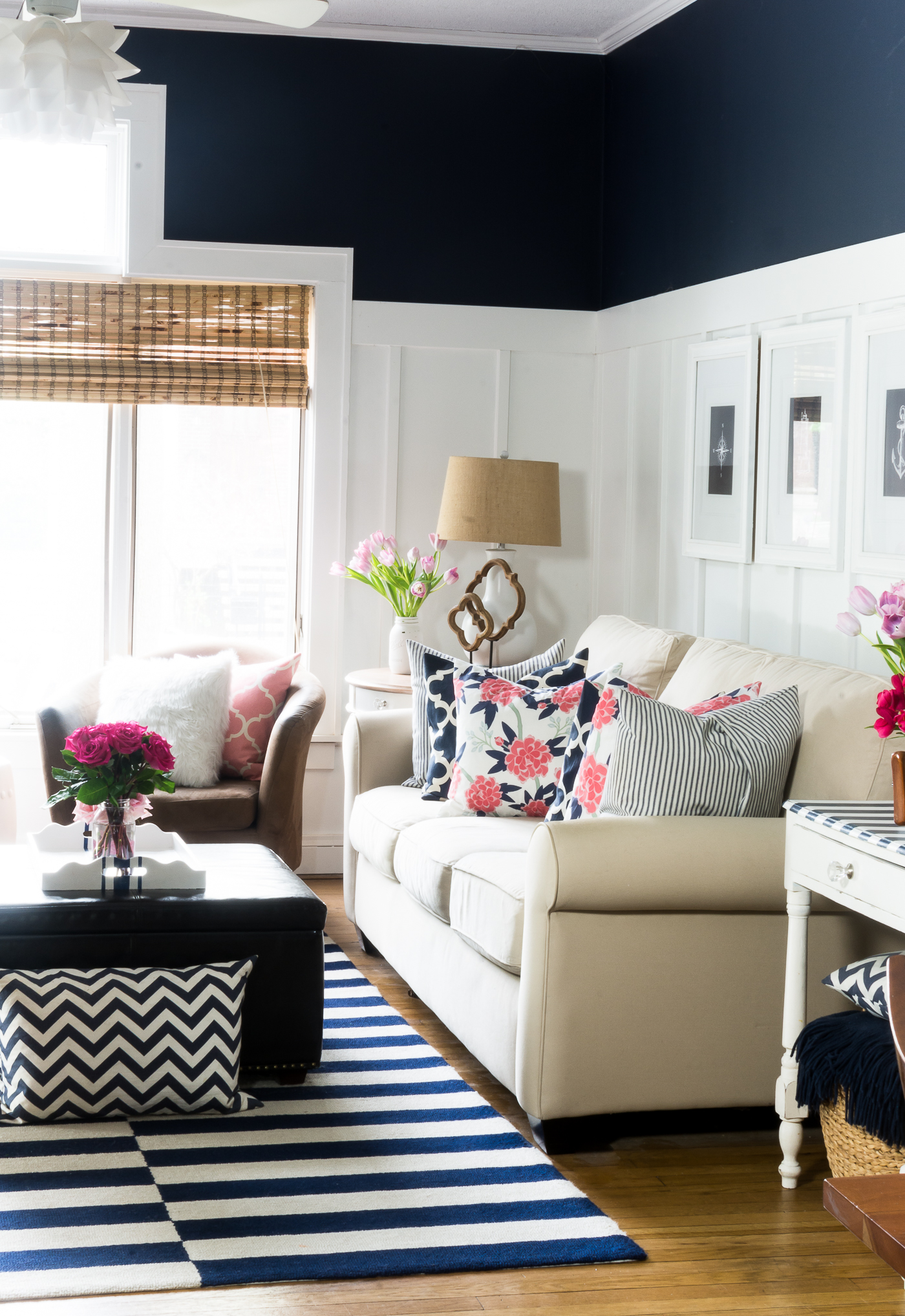 Navy Pink Decor Living Room Spring 11 Of 40 It All Started With Paint