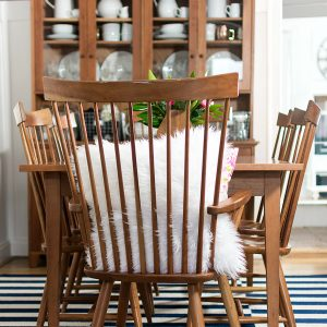 Shaker Dining Room Navy & Pink for Spring