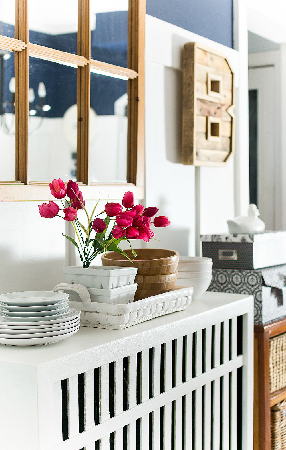 shaker dining room navy u0026 pink for spring it all started with paint