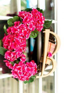 Geranium Monogram Wreath & My Secret Pinterest Boards