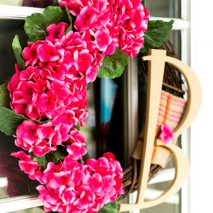 Geranium Monogram Wreath & My Secret Pinterest Boards