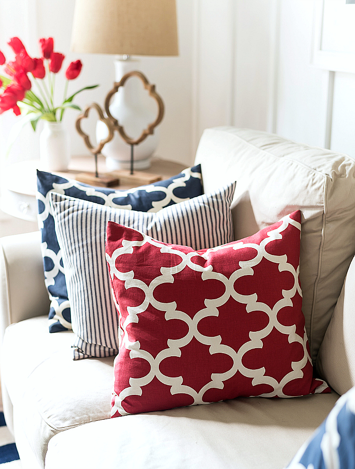 The inevitable red white   blue Red White Blue Americana Summer Decor   It All Started With Paint. Red White And Blue Painted Furniture. Home Design Ideas