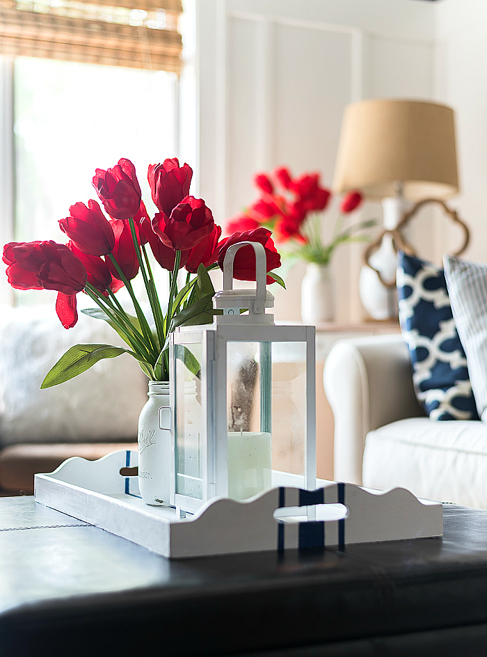 Red White Blue Americana Summer Decorating Ideas