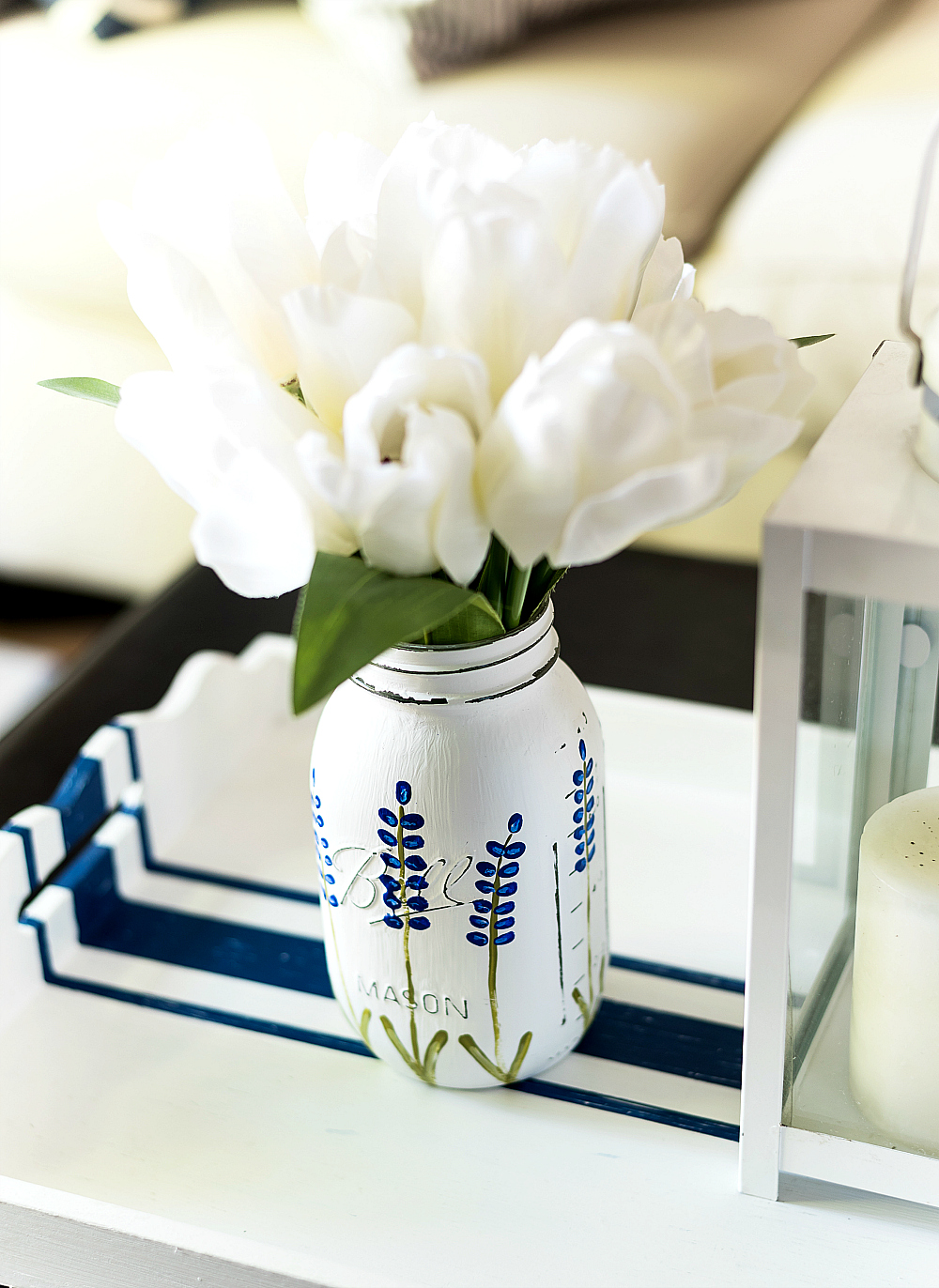 Texas Bluebonnet Mason Jar