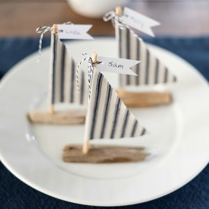 Driftwood Sailboat Place Setting DIY