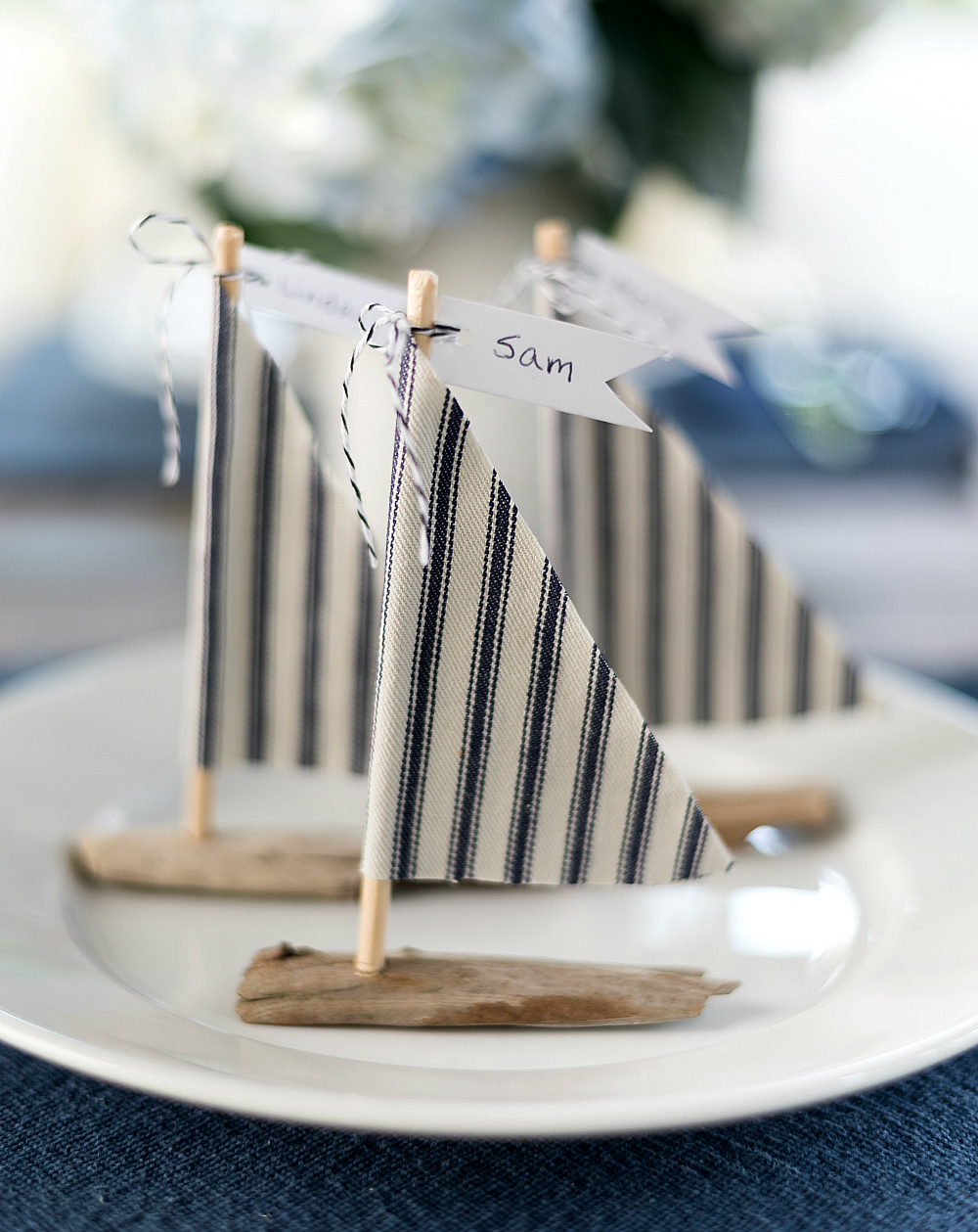 How to Make Driftwood Sailboat Place Setting DIY
