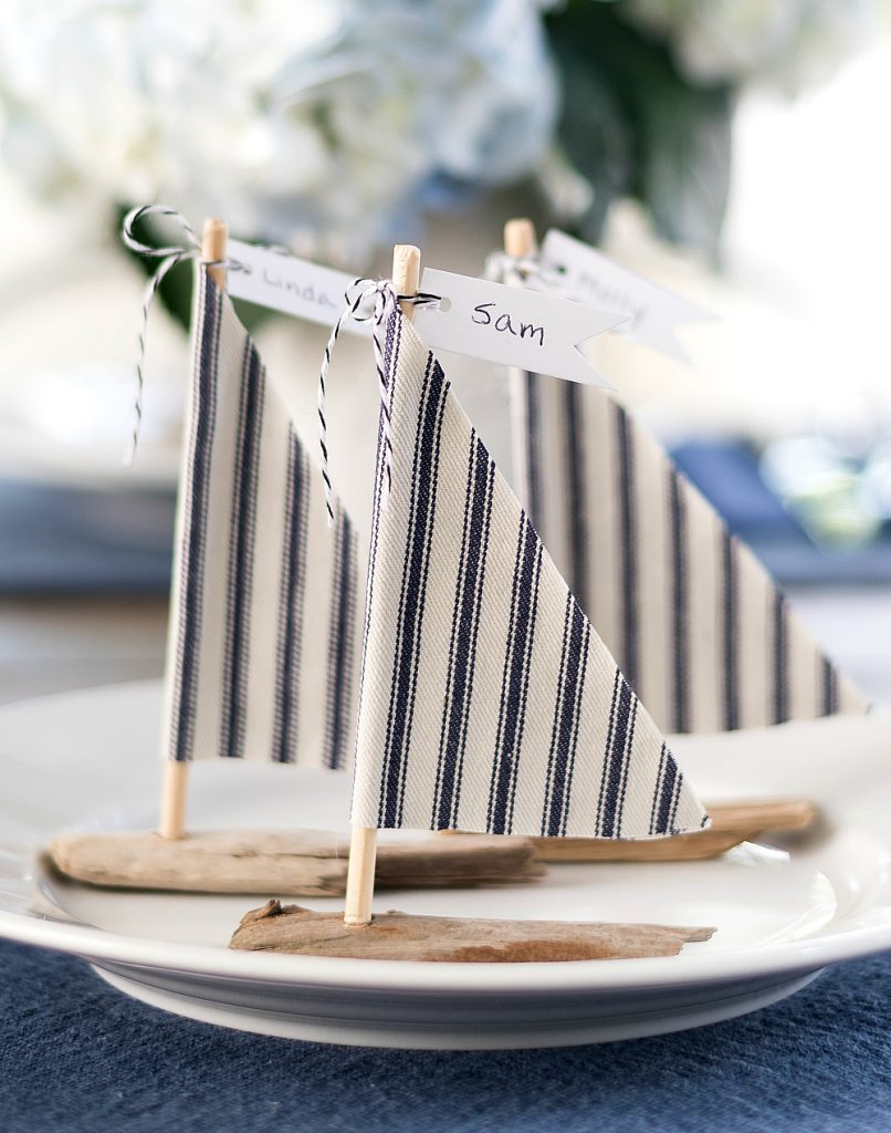 Driftwood Sailboat Place Card Holders