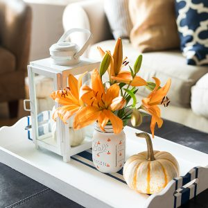 Painted Pumpkin Mason Jars