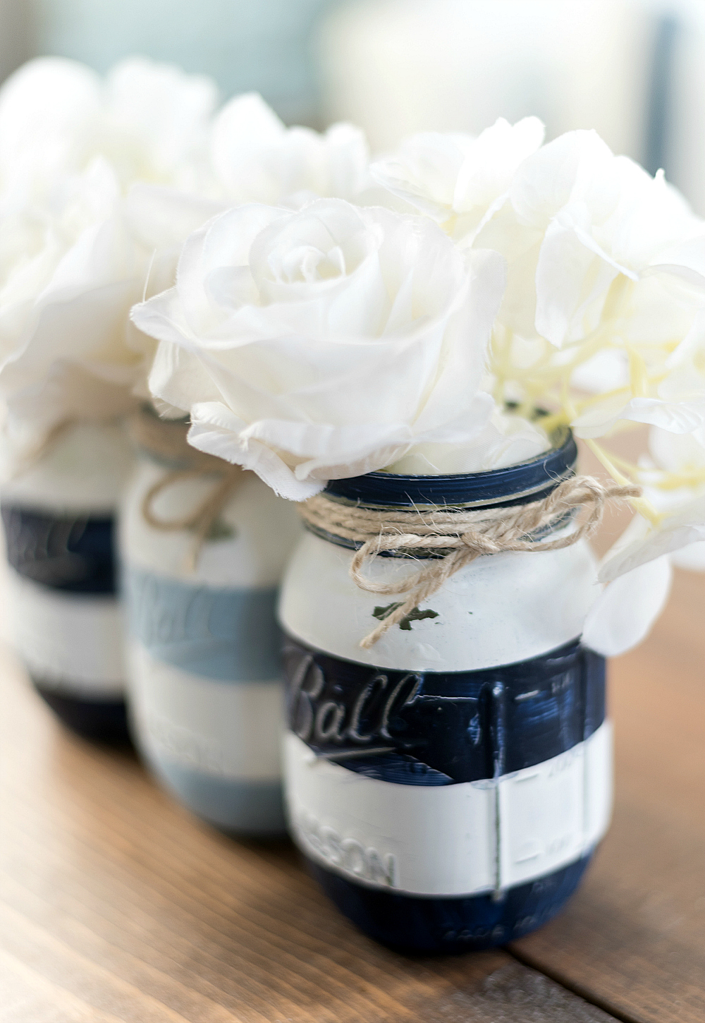 Nautical Mason Jar - Beachy Mason Jar
