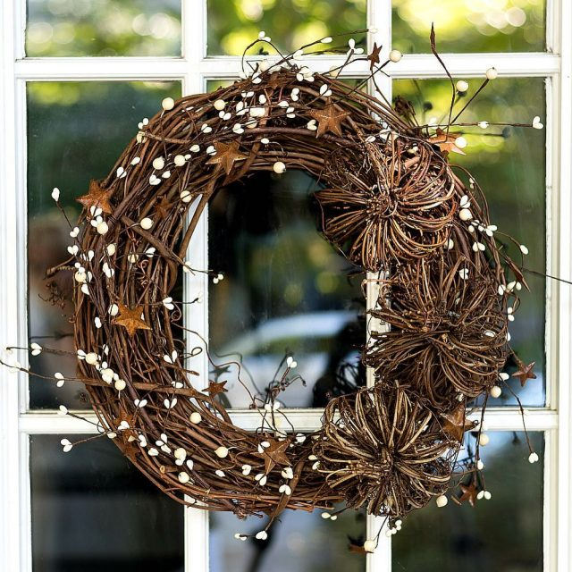 Easy grapevine wreath for fall fallwreath falldecor