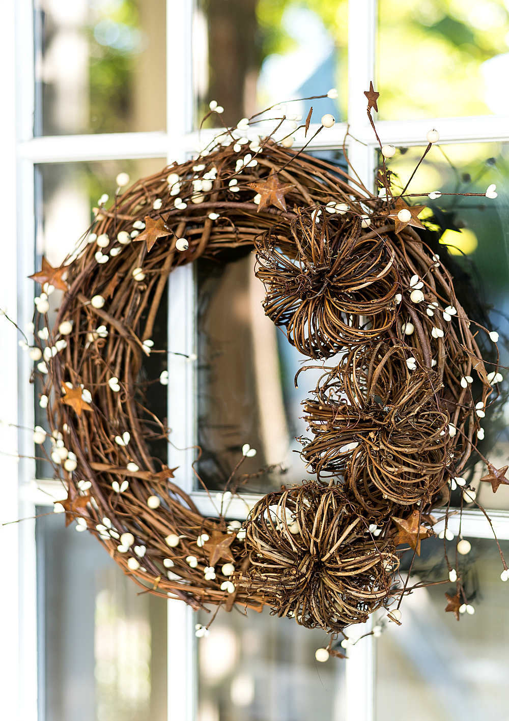 Easy Fall Wreath DIY with Grapevine Wreath and Pumpkins