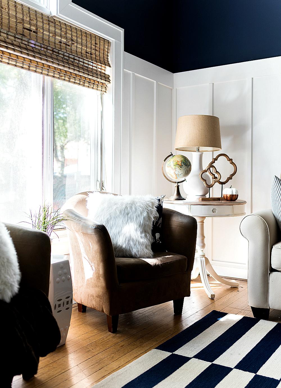 Fall-Decorating-White-Pumpkins-Board-Batten-Living-Room-Navy-White ...