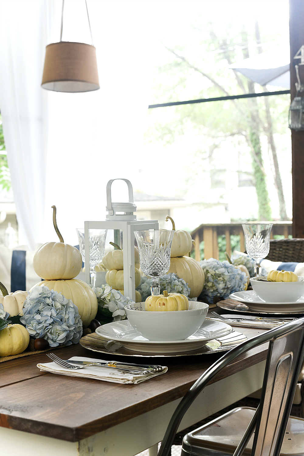 Our Homes Value Is Not In The Structure But Land Upon Which It Sits Pumpkin And Hydrangea Centerpiece