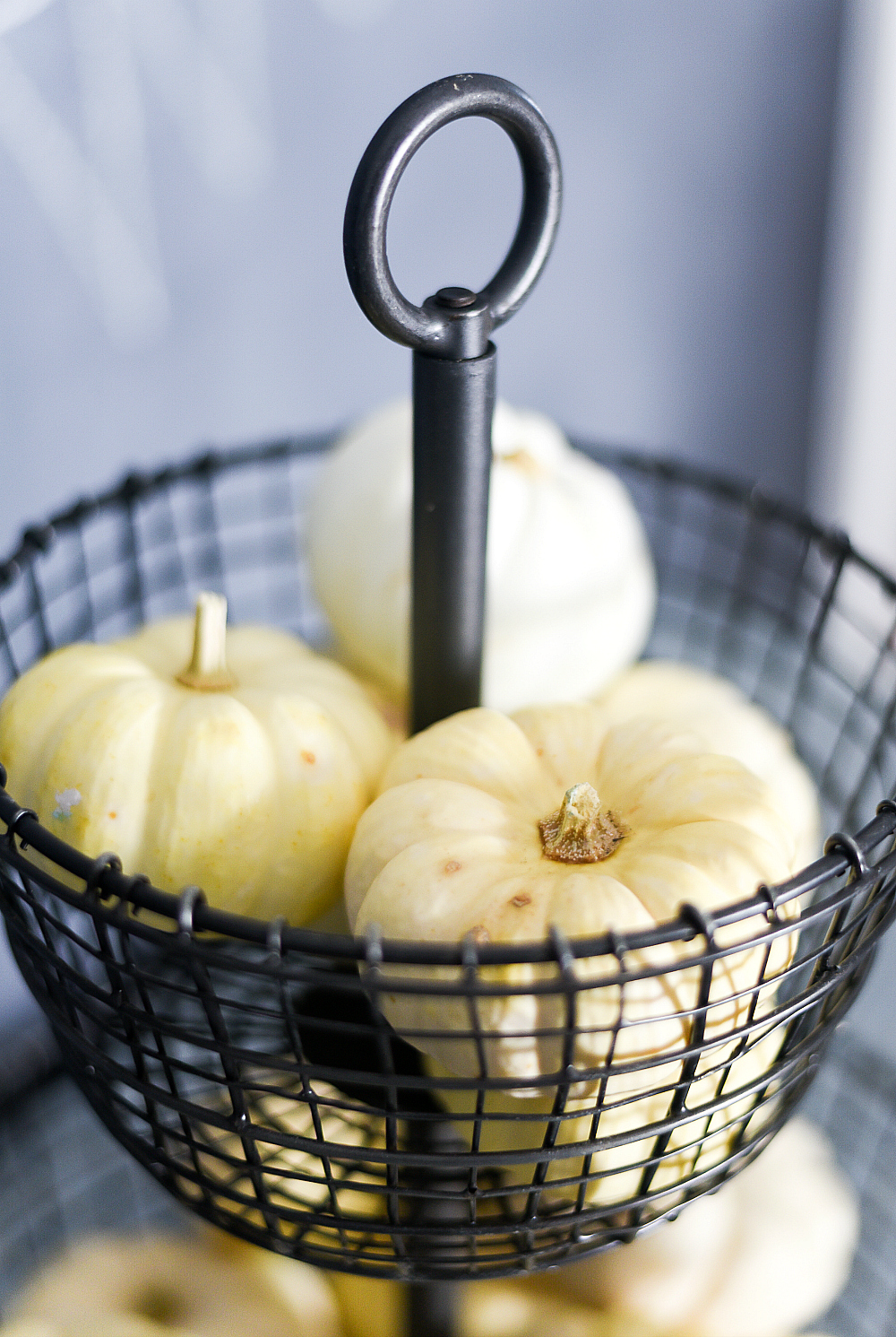 white pumpkins kitchen decor for fall