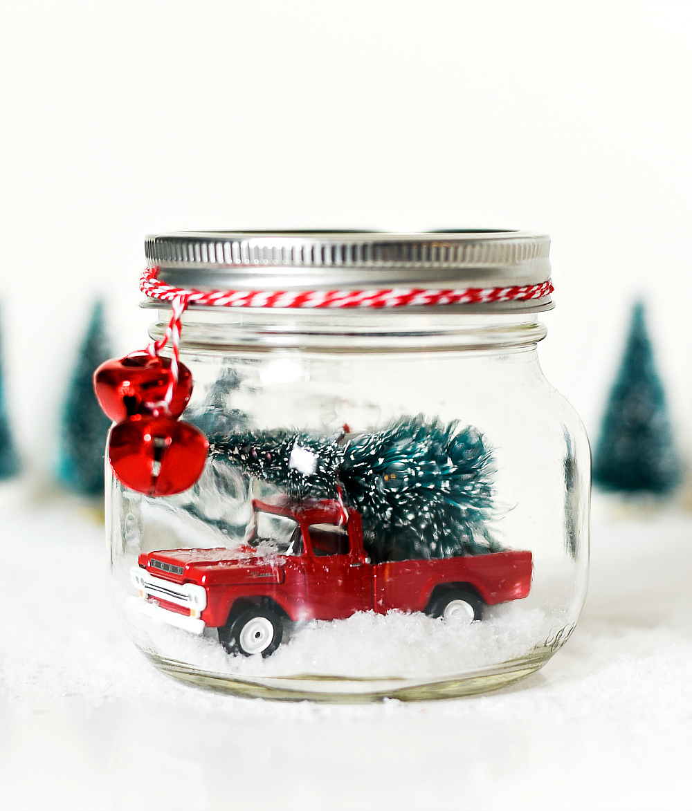Vintage Truck In Mason Jar Snow Globe It All Started With Paint