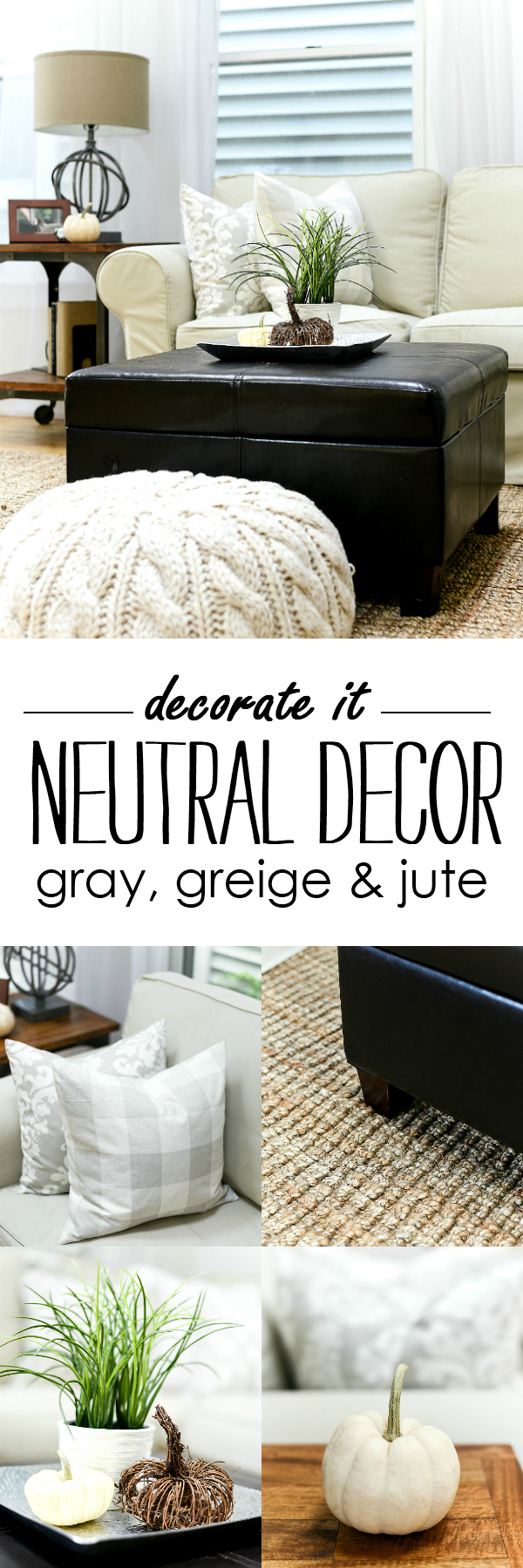 Neutral Decor in Gray, Greige, Jute Rugs