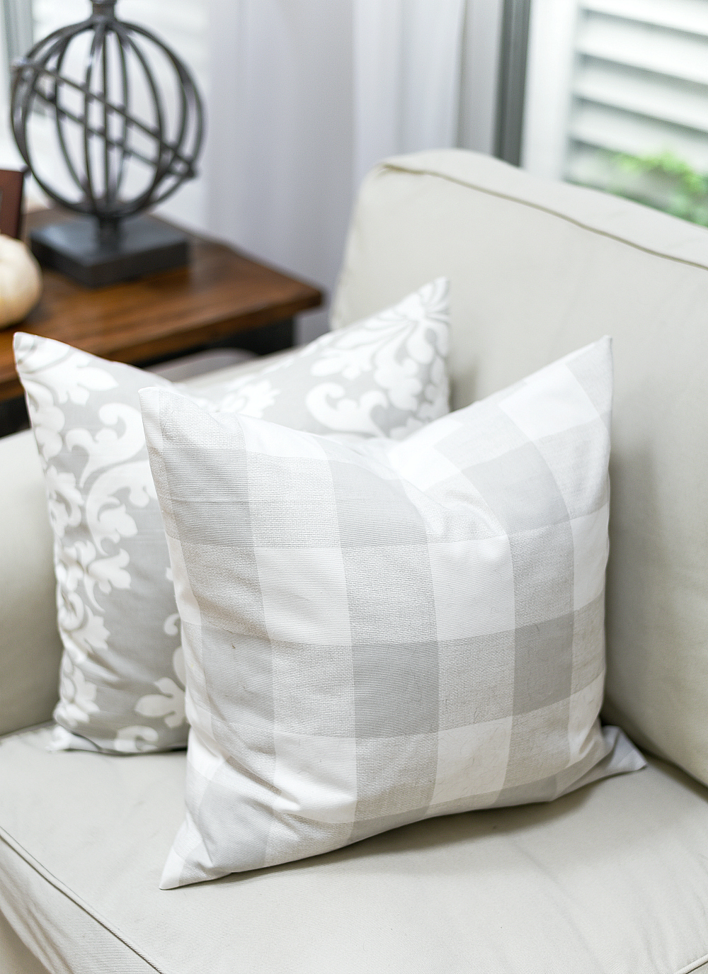 Greige Fabric - Greige Pillows - Gray Neutral Fabric