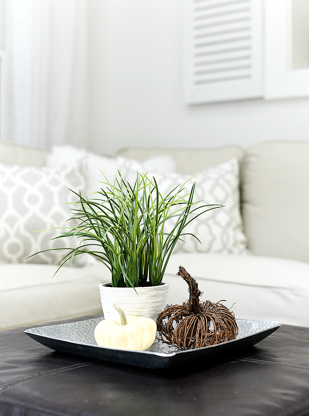 Neutral Decor ideas with gray, jute, greige, white