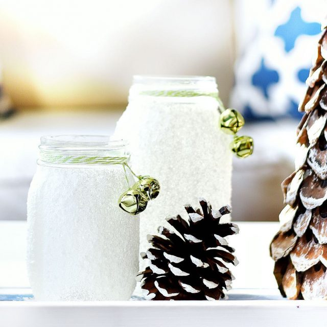 Epsom salt masonjar votives