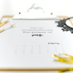 Free Calendar Page Printable for January 2018