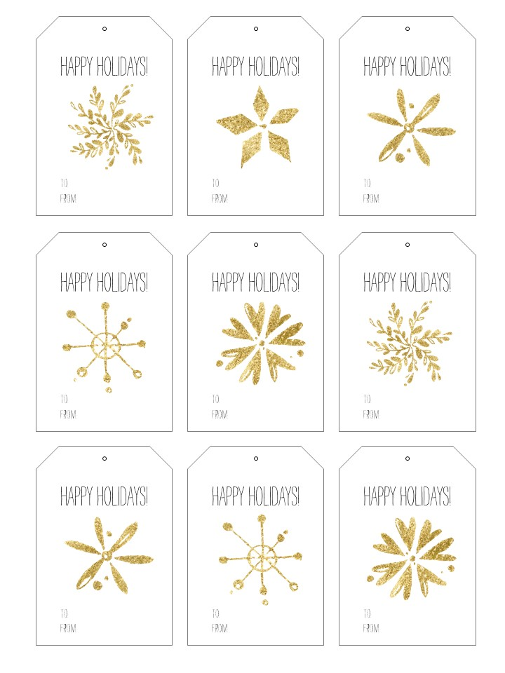 This is a picture of Gift Tags Printable regarding blank