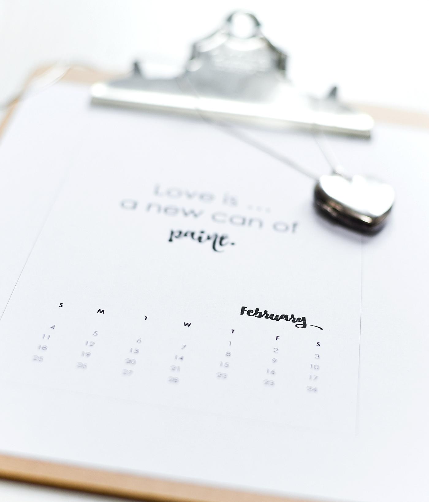 Free Calendar Page Printable 2018