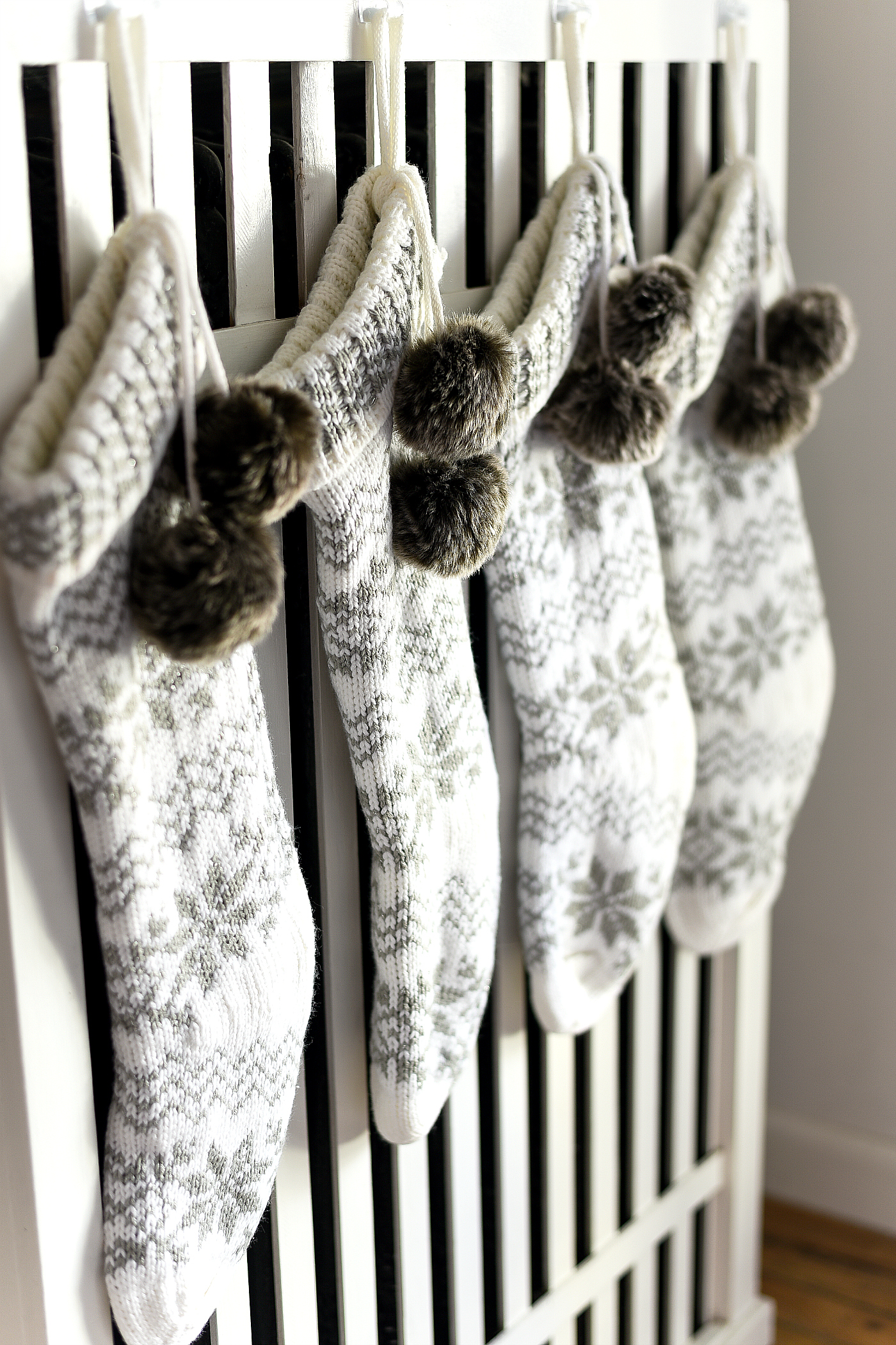 Knit Stockings - Sweater stockings - Target Knit Christmas Stockings - Gray and White Christmas Sweater stockings